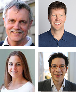 Clockwise : Ruedi Aebersold, Brendan MacLean, Brian Searle, Lindsay K. Pino