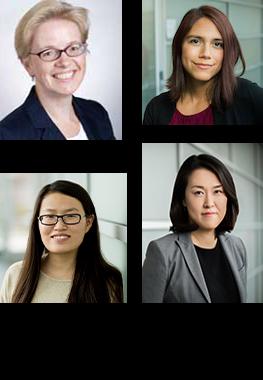 Clockwise : Olga Vitek, Kylie Bemis, Meena Choi, Ting Huang